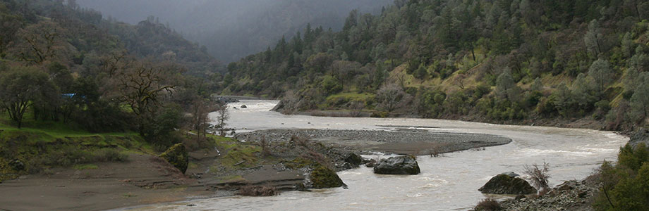 The Eel River in Mendocino County, California